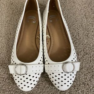 White casual flats!